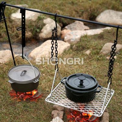 Outdoor Quadripod /Camping Hanger Folding Rack Lantern Stand with Hook